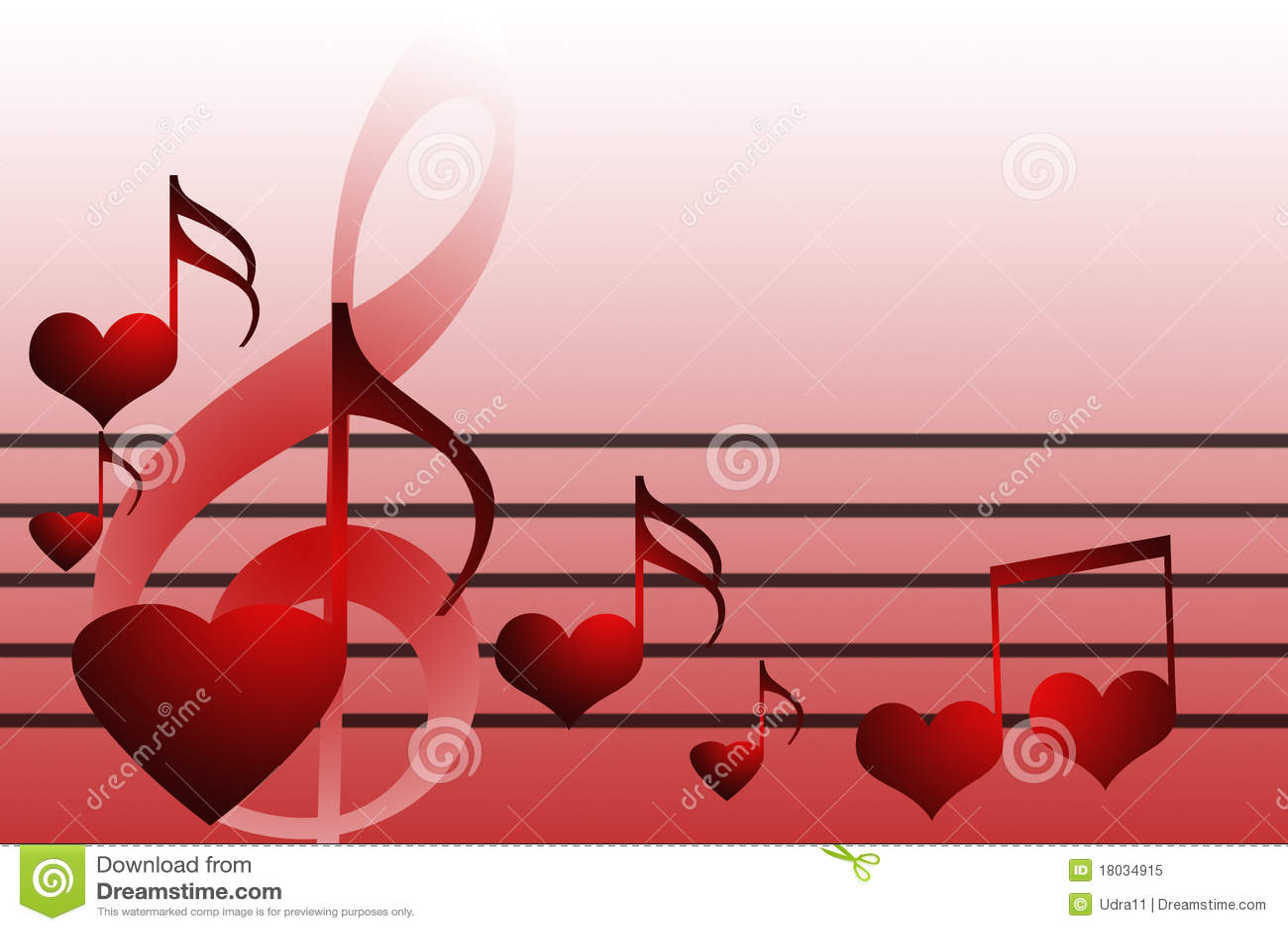 Valentines Music Hearts Stock Illustration Image Of