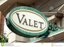 Valet Parking Sign Stock Of City Street