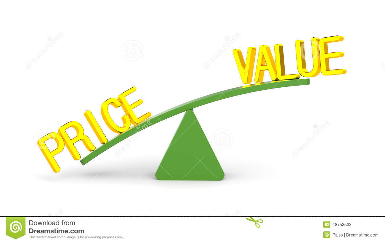 Value And Price Stock Illustration Illustration Of Choice