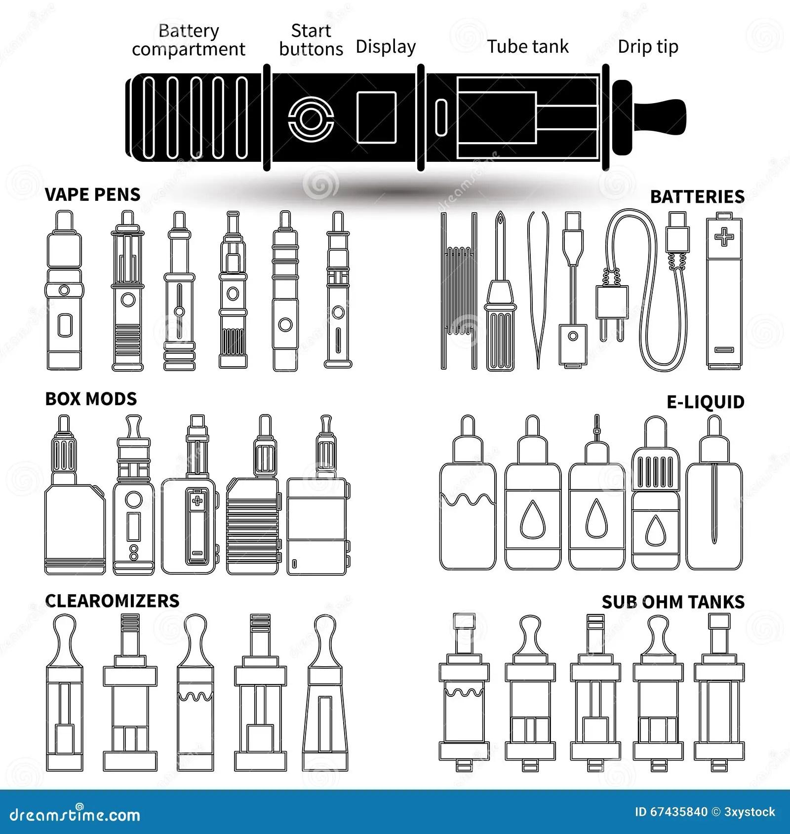 Vape Service Stock Vector Illustration Of Color Vape