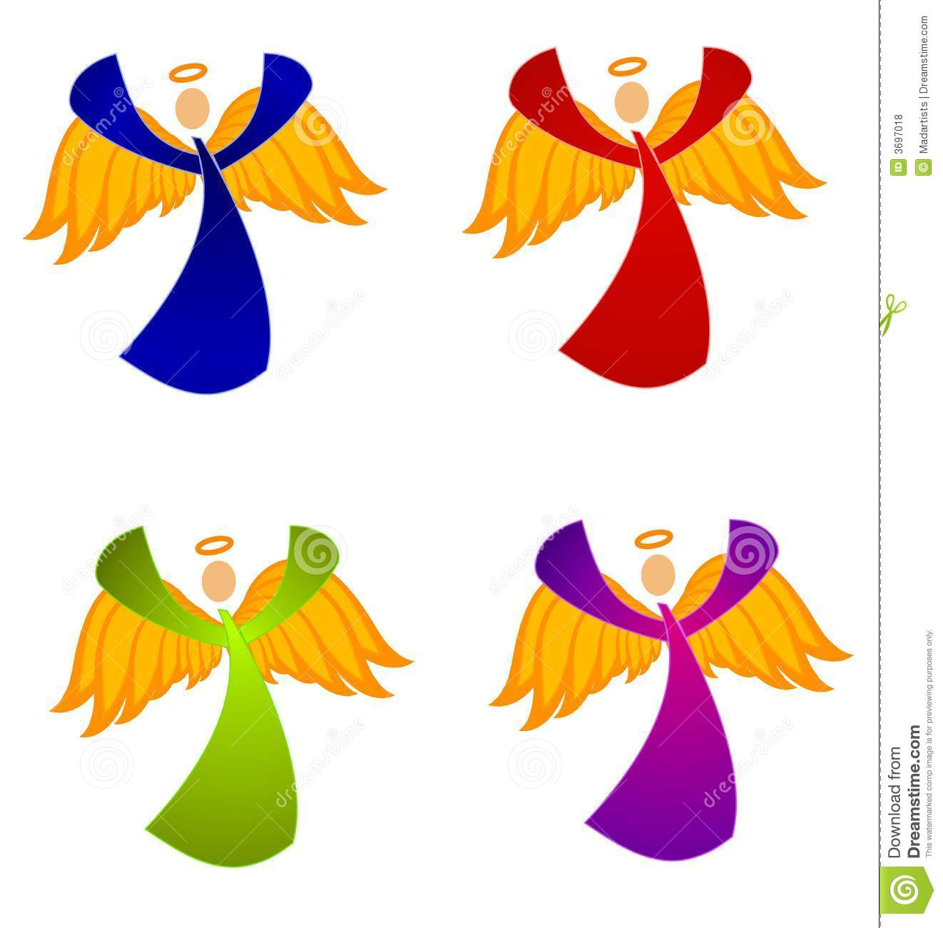 variety of christmas angels