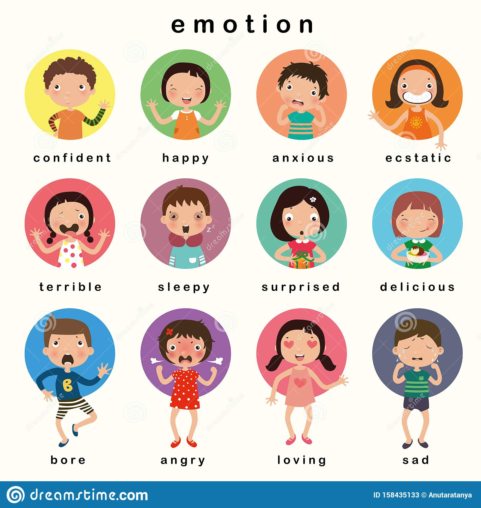 Emotions Kids Stock Illustrations 4 063 Emotions Kids