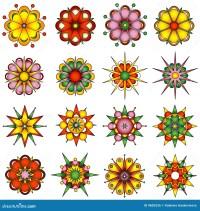 Variety of flower designs stock vector. Illustration of ...