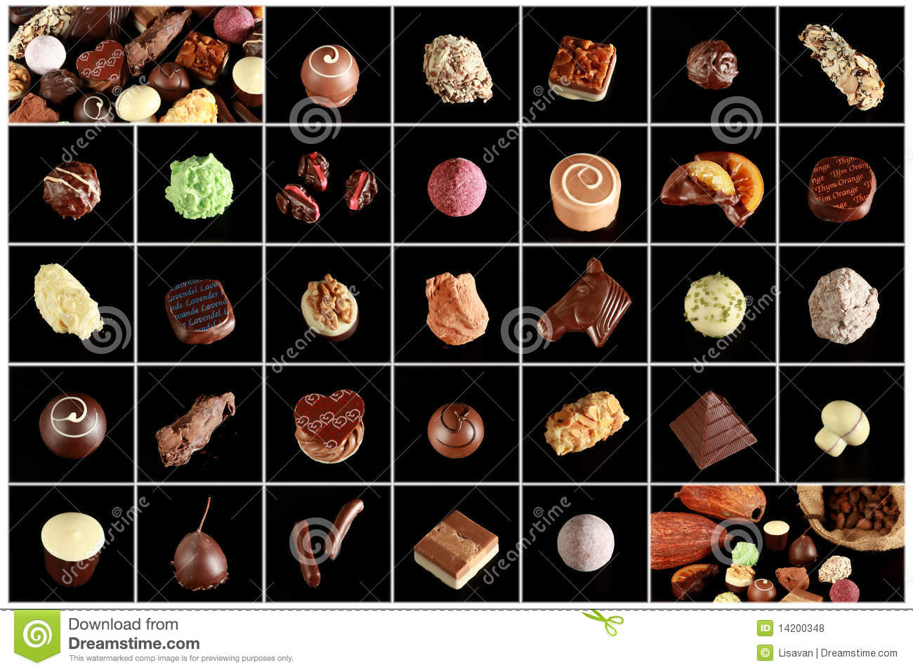 Variety Of Special Chocolates Stock Photo Image Of
