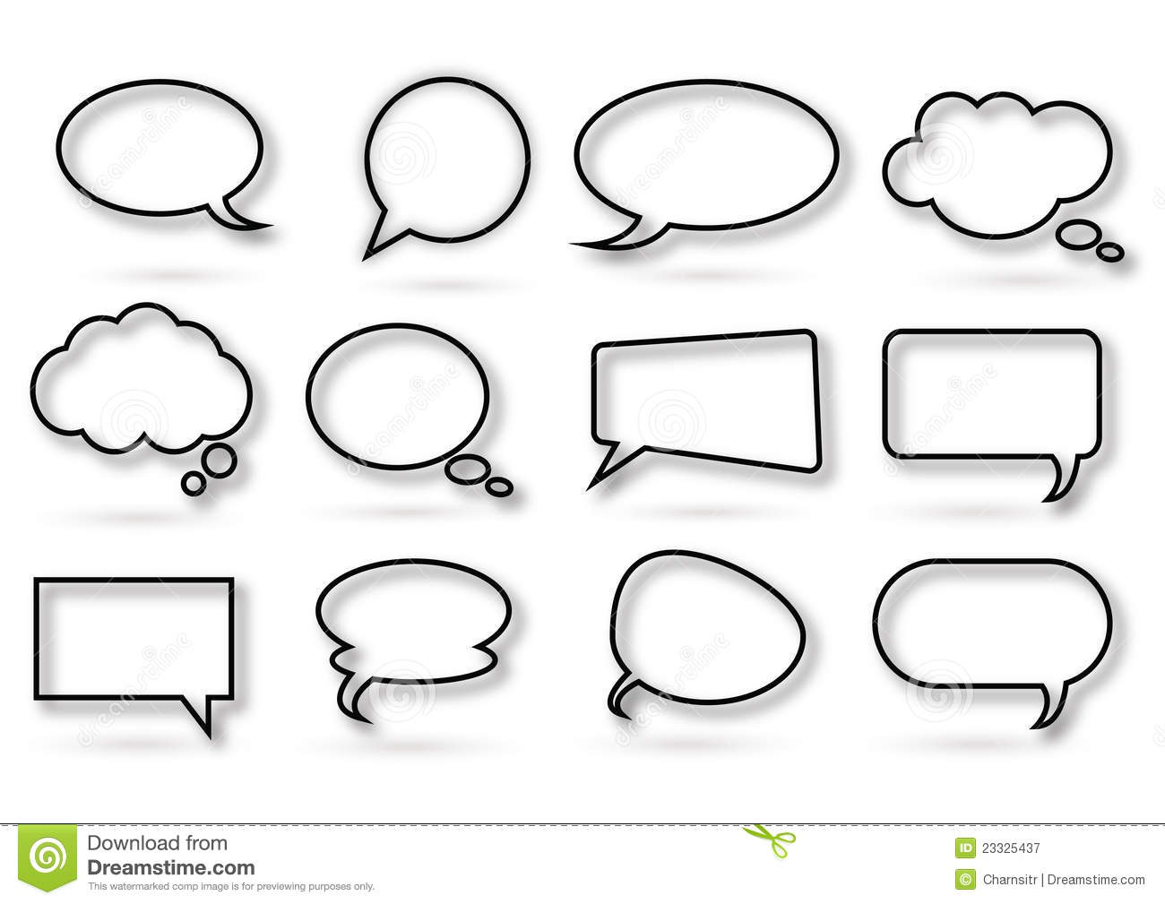 Various Kind Of Chat Bubble Royalty Free Stock Photography