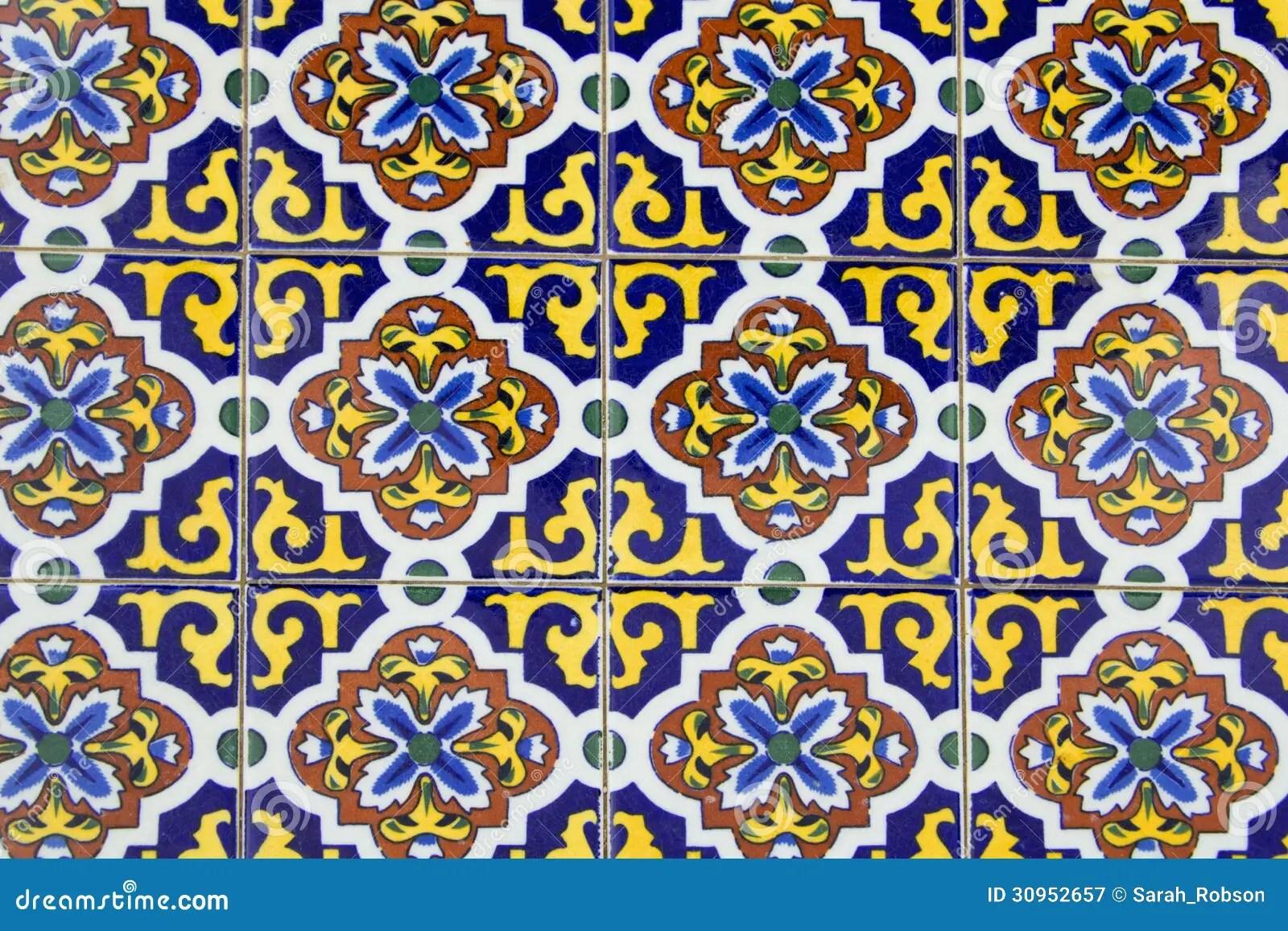 Vecchie Piastrelle Di Ceramica Spagnole Immagine Stock  Immagine di mattonelle background