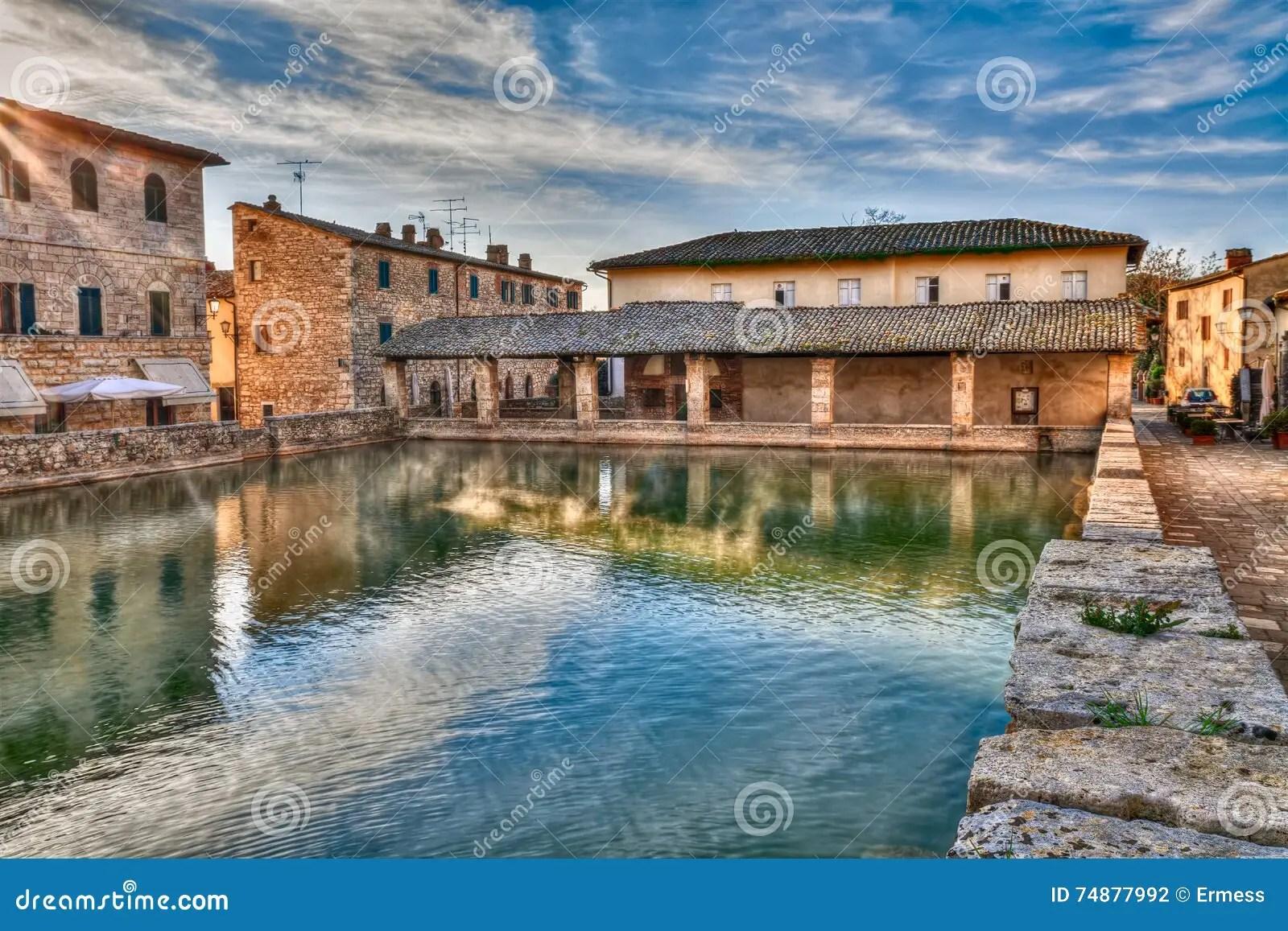 Vecchio Terme In Bagno Vignoni Toscana Italia Fotografia