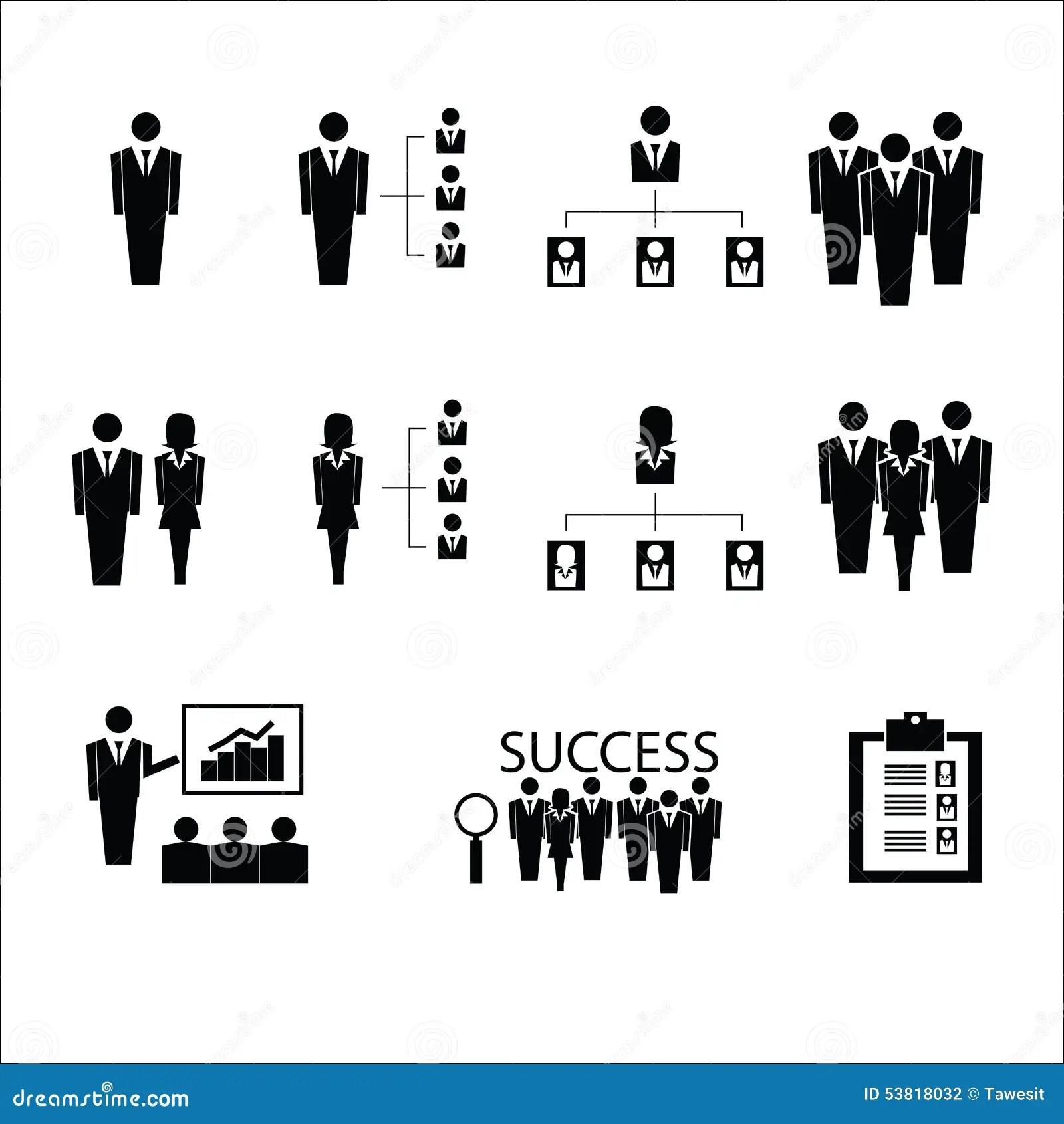 Vecteur D Icones D Association D Entreprises Illustration