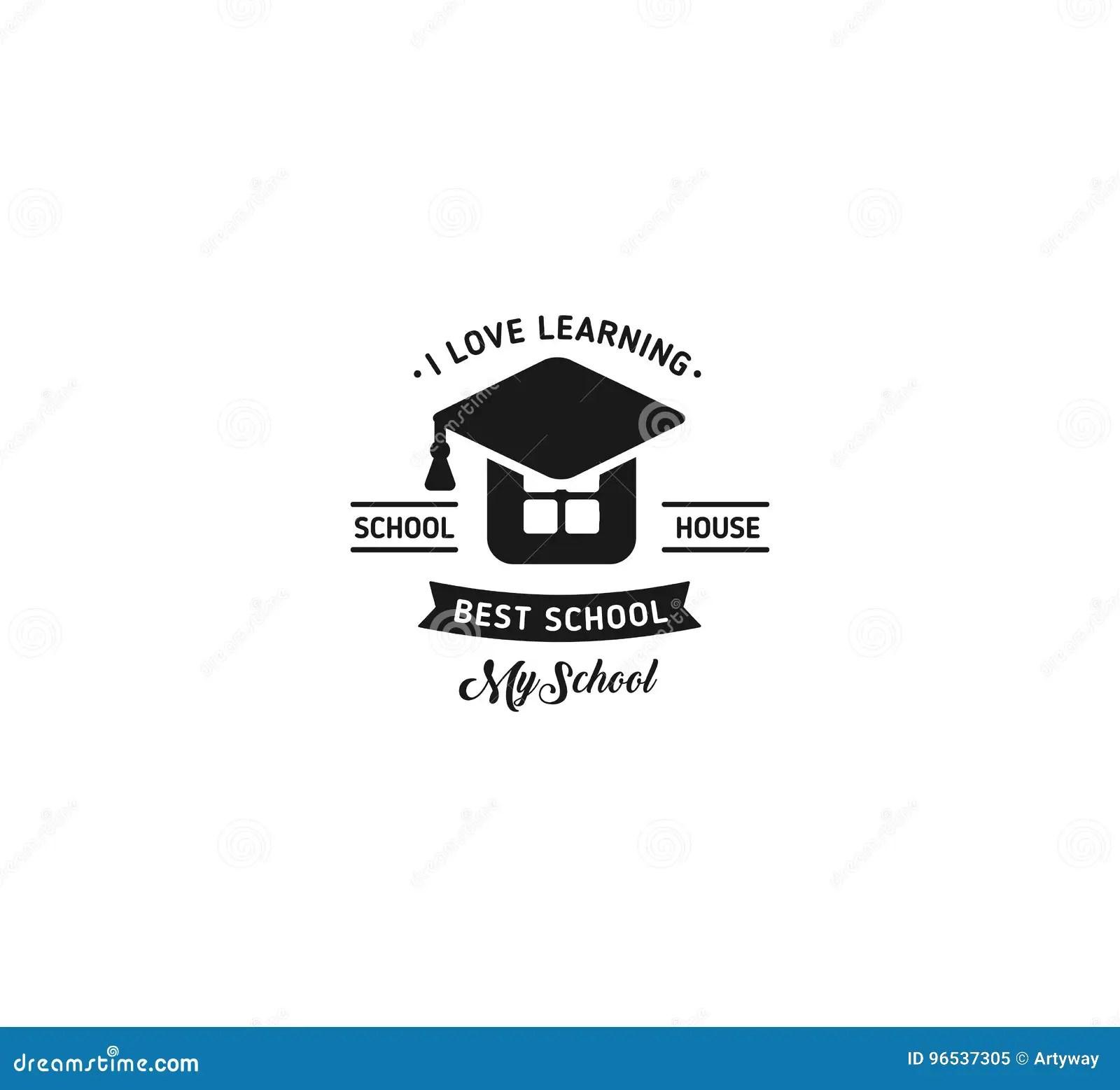 Vecteur De Logo D'école Signe De étude éducatif De Vintage