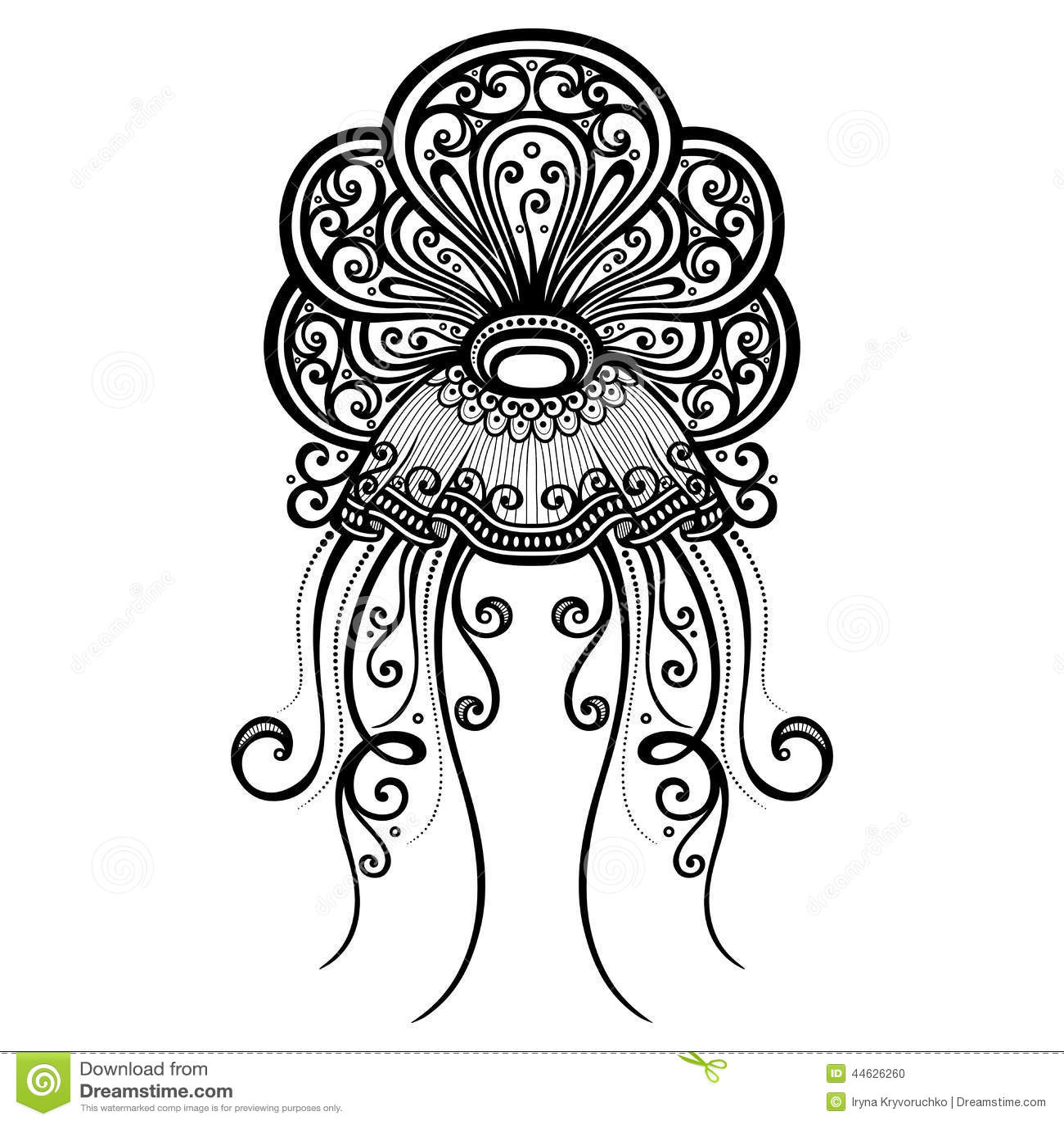 Vector Abstract Sea Jellyfish Stock Vector Image 44626260