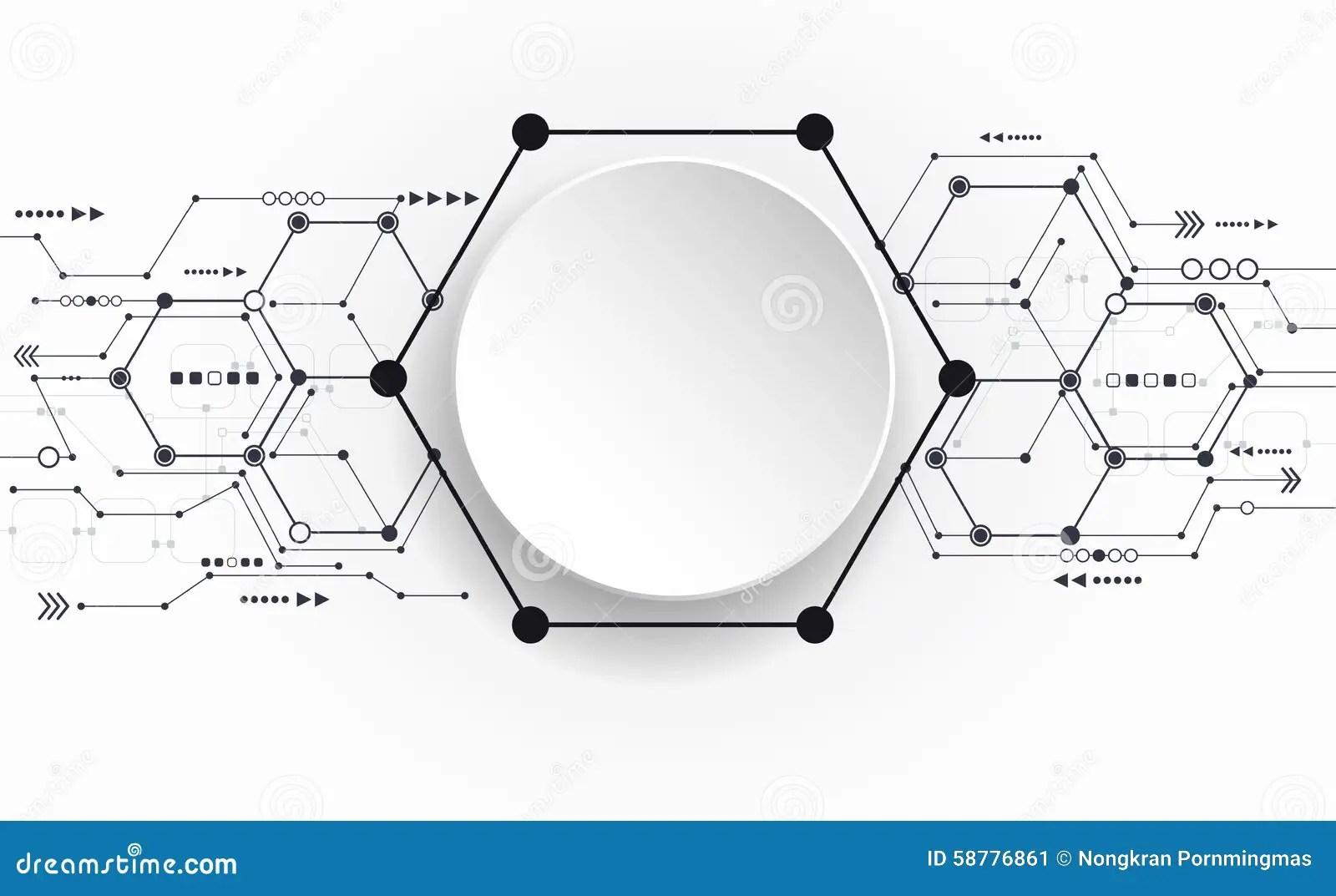 Vector Abstracte Futuristische Kringsraad Op Lichtgrijze