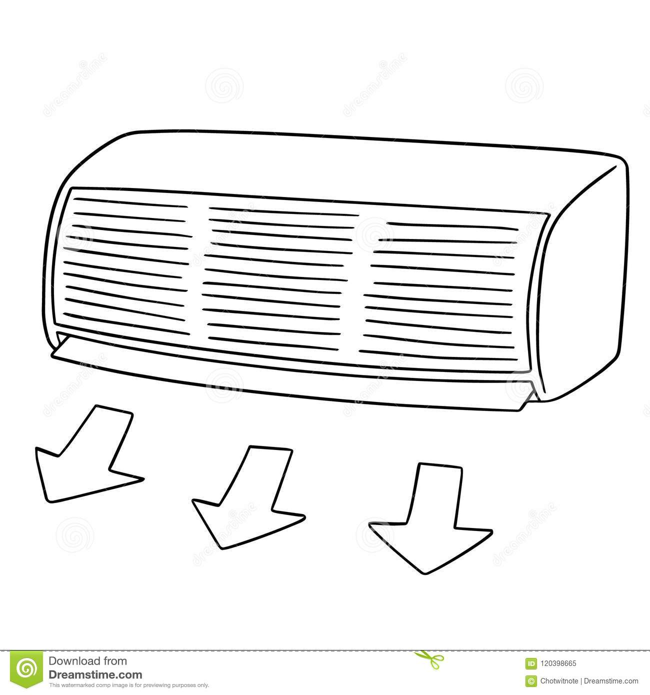 Vector of air conditioner stock vector. Illustration of