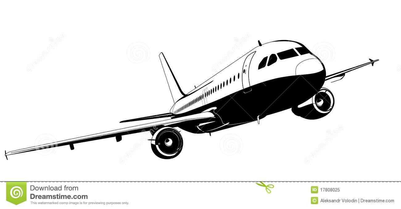 Vector airliner stock vector. Illustration of airplane