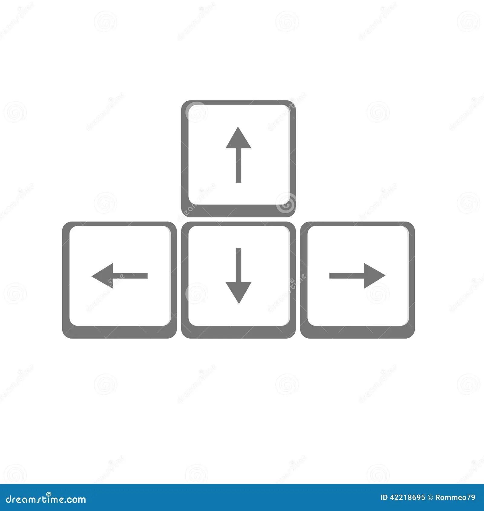 Vector Arrows Buttons Keyboard Stock Vector