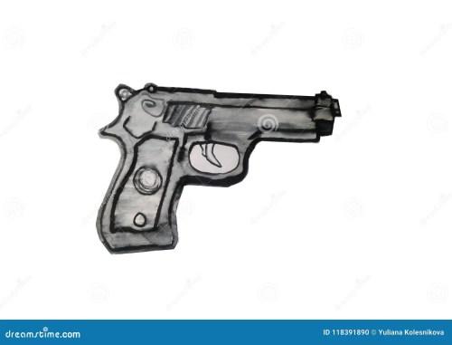 small resolution of vector art illustration black gun clipart