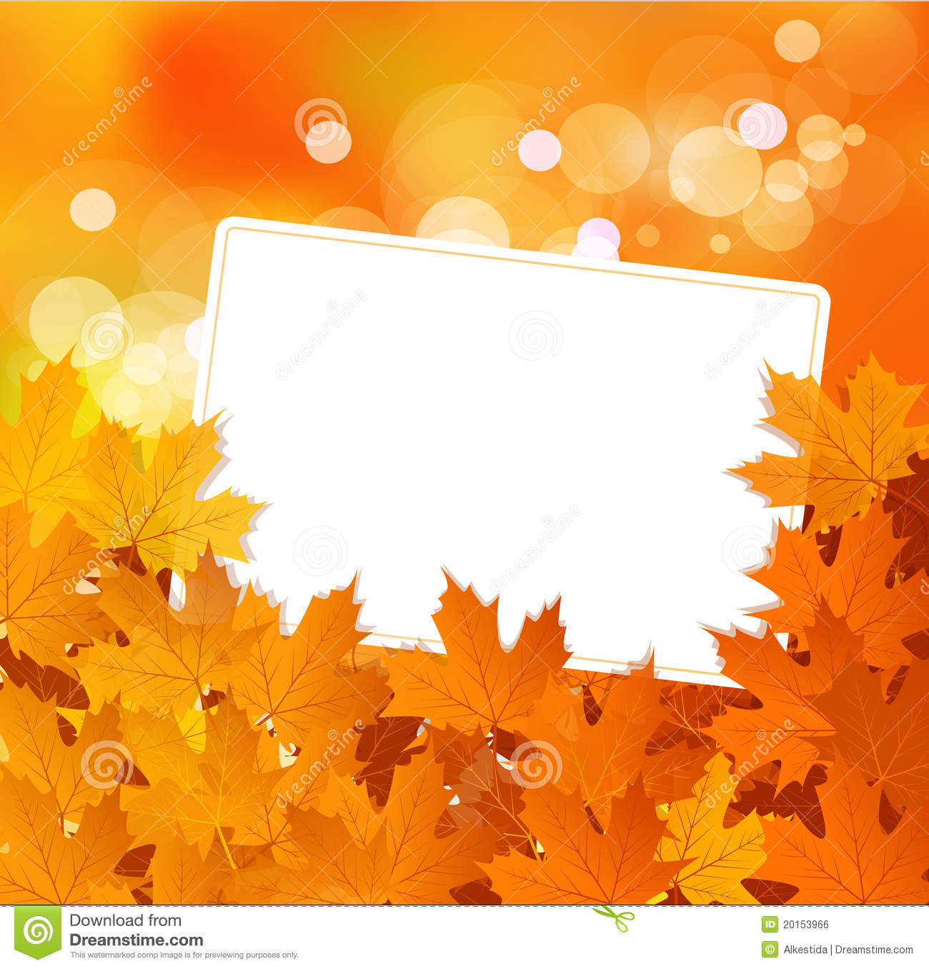 Vector Autumn Background With Greeting Card Stock Vector