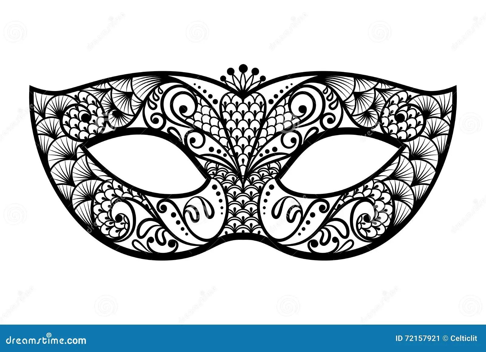 Vector Back Venetian Carnival Mardi Gras Party Mask
