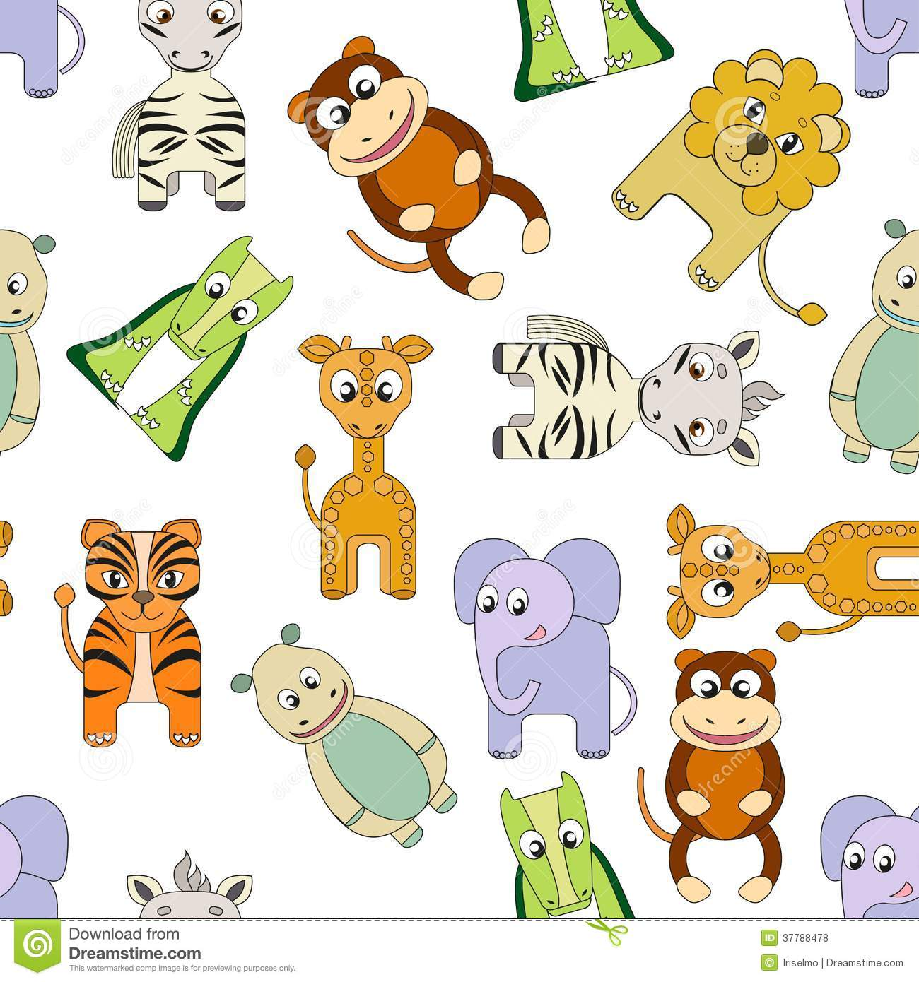 Vector Background With African Animals Stock Vector