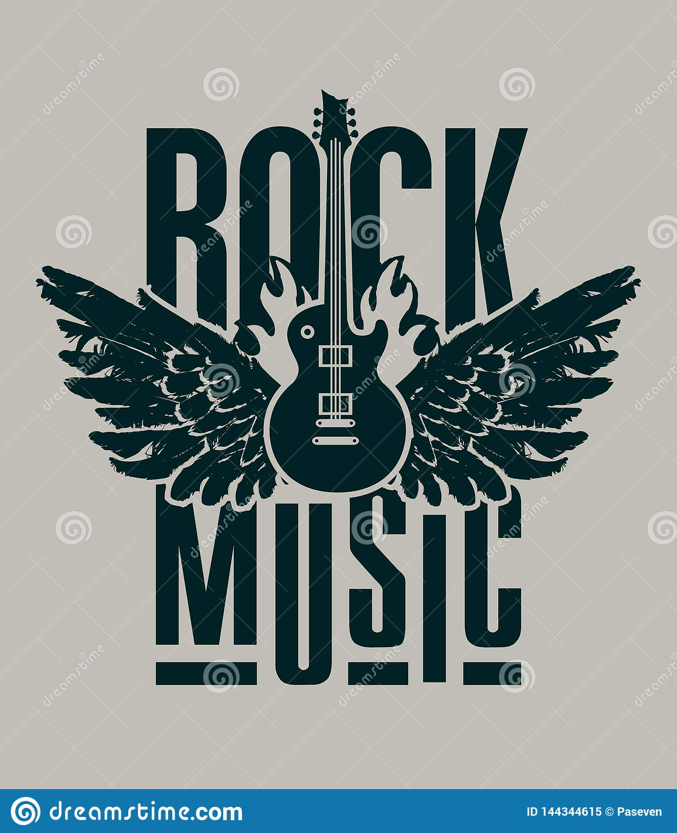 banner for rock music
