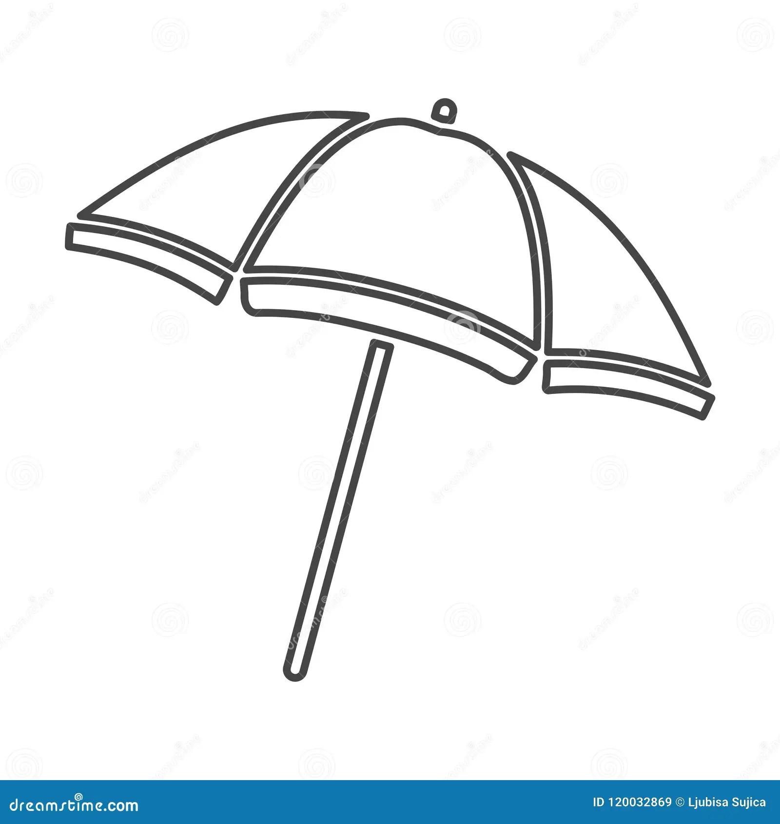 Vector Beach Umbrella Icon Parasol Icon Simple Icon