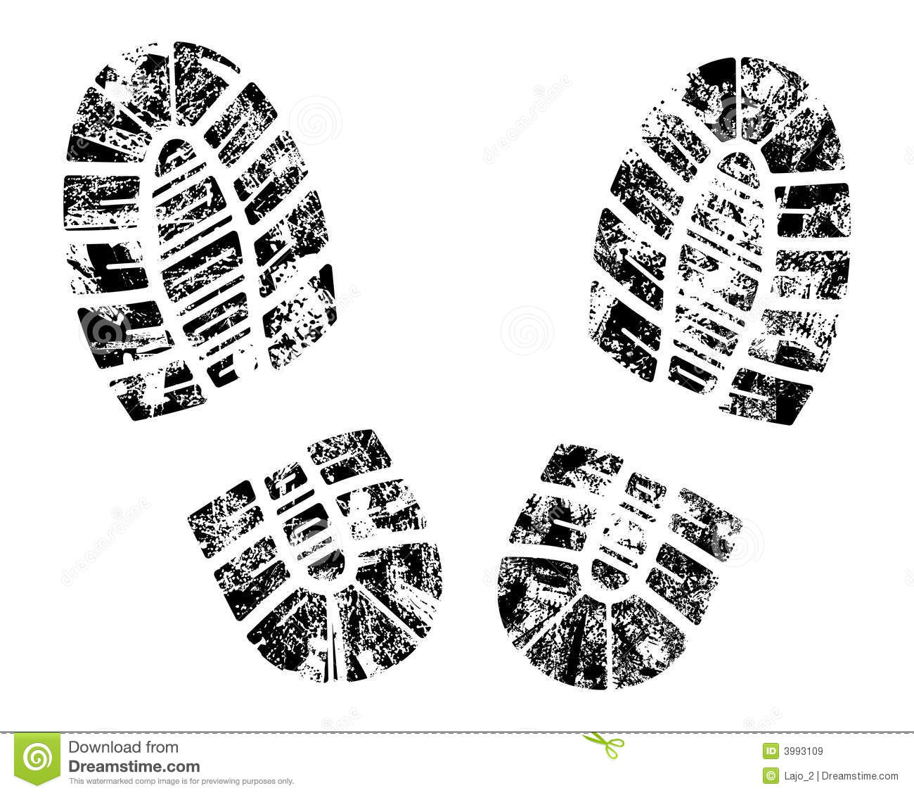 Vector Bootprint Royalty Free Stock Images
