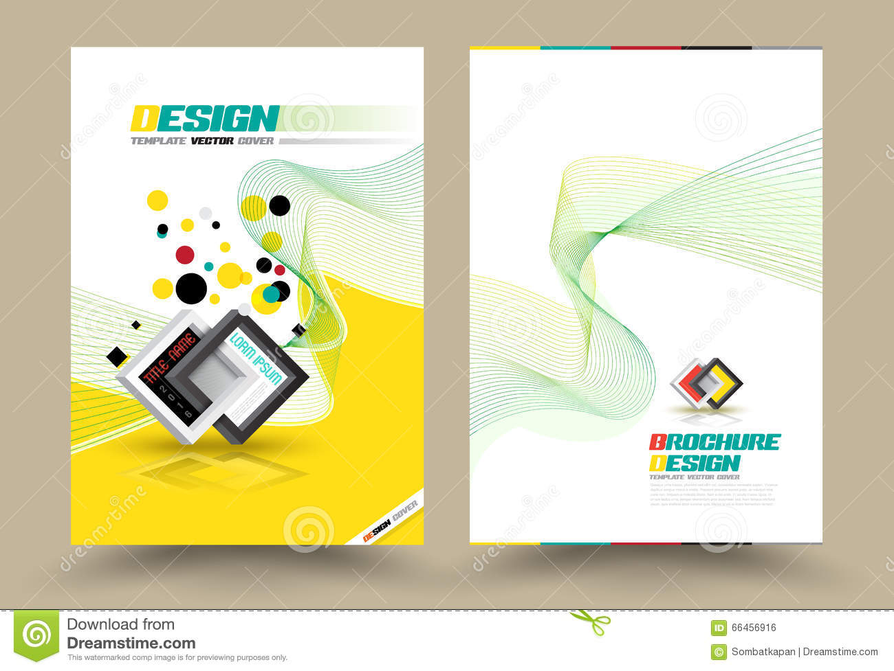 Vector Brochure Flyer Design Layout Template Line Style