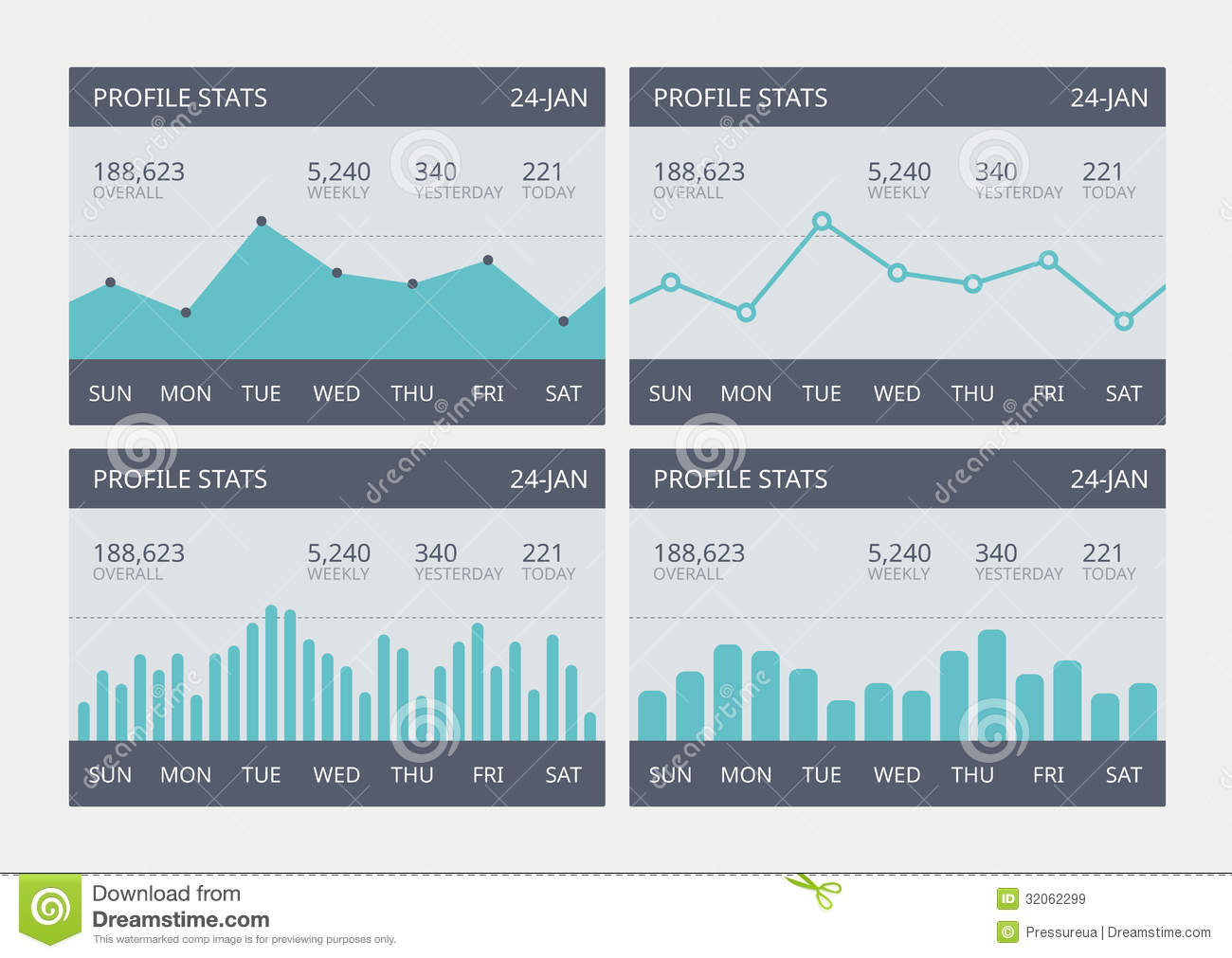 statistical analysis graphs and diagrams dollar origami pig diagram vector business statistic charts set royalty free stock