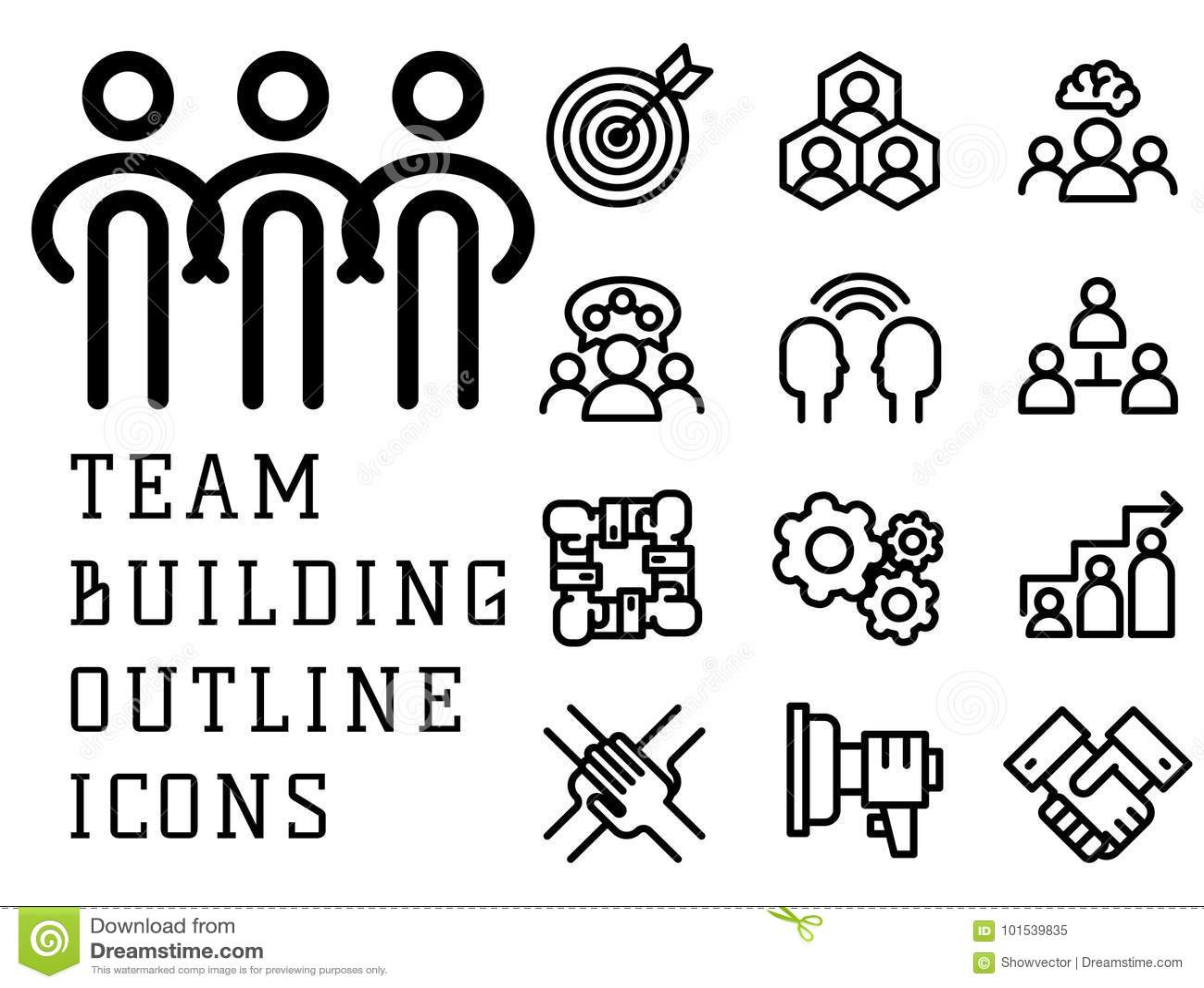 Teambuilding Cartoons, Illustrations & Vector Stock Images