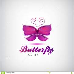 Butterfly Pedicure Chair Used Barber For Sale Big Icon Flat Style Vector Illustration