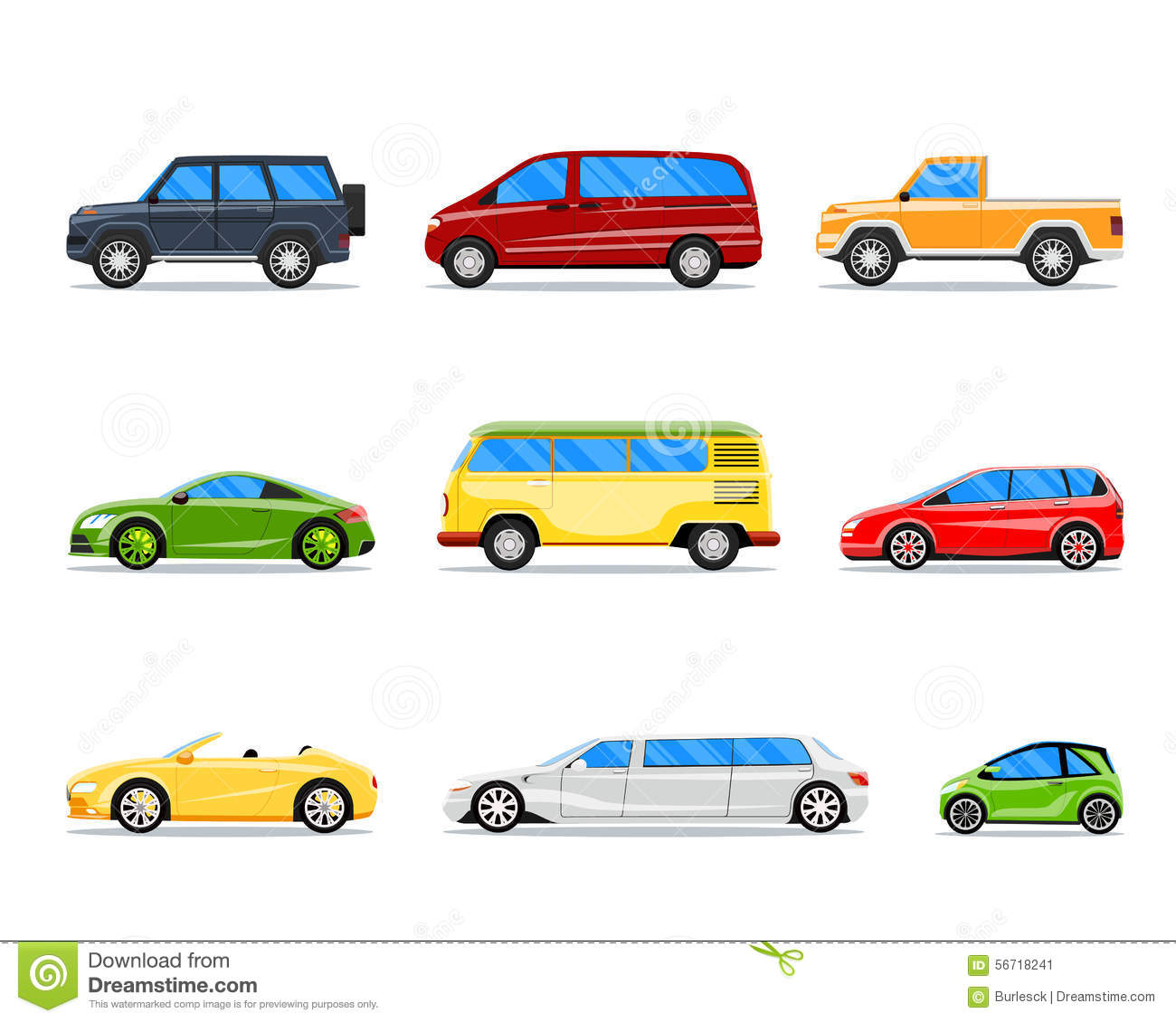 vehicle diagram clip art york heat pump control wiring vector car icons in flat style stock illustration