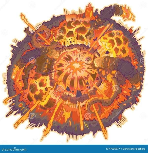 Vector Cartoon Clip Art Explosion Illustration Stock