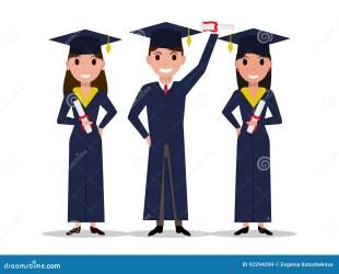 cartoon graduate boy student diploma vector cap academic square education preview educational