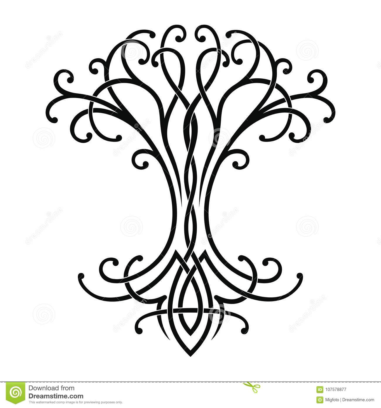 Celtic Tree Of Life Stock Vector Illustration Of Life
