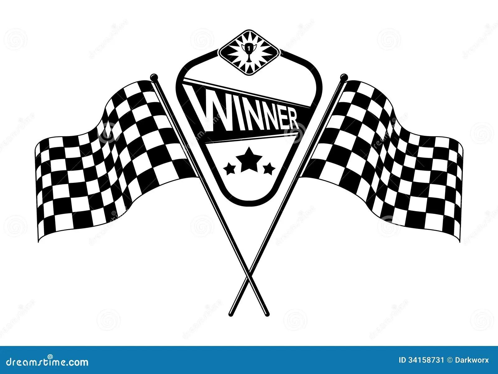 Vector Checkered Race Flags Stock Vector