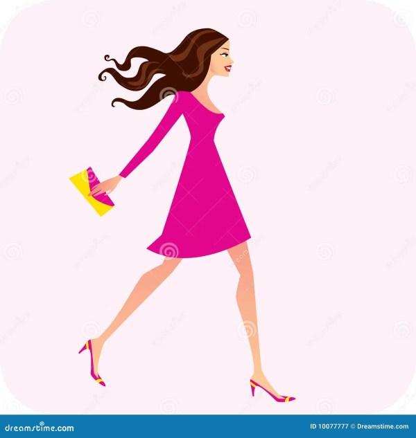 Fashion Illustration Of Woman Stock
