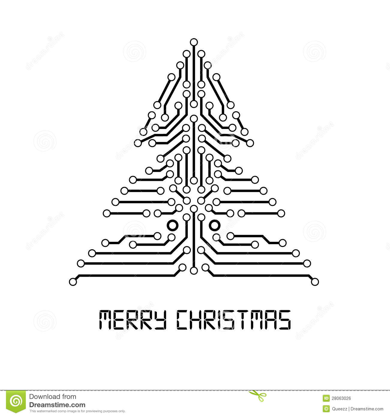 Vector Christmas tree. stock vector. Illustration of