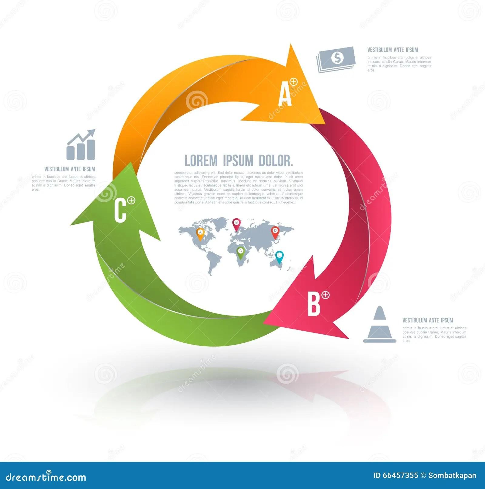 free circular arrow diagram template pupil diameter chart vector circle arrows for infographic stock