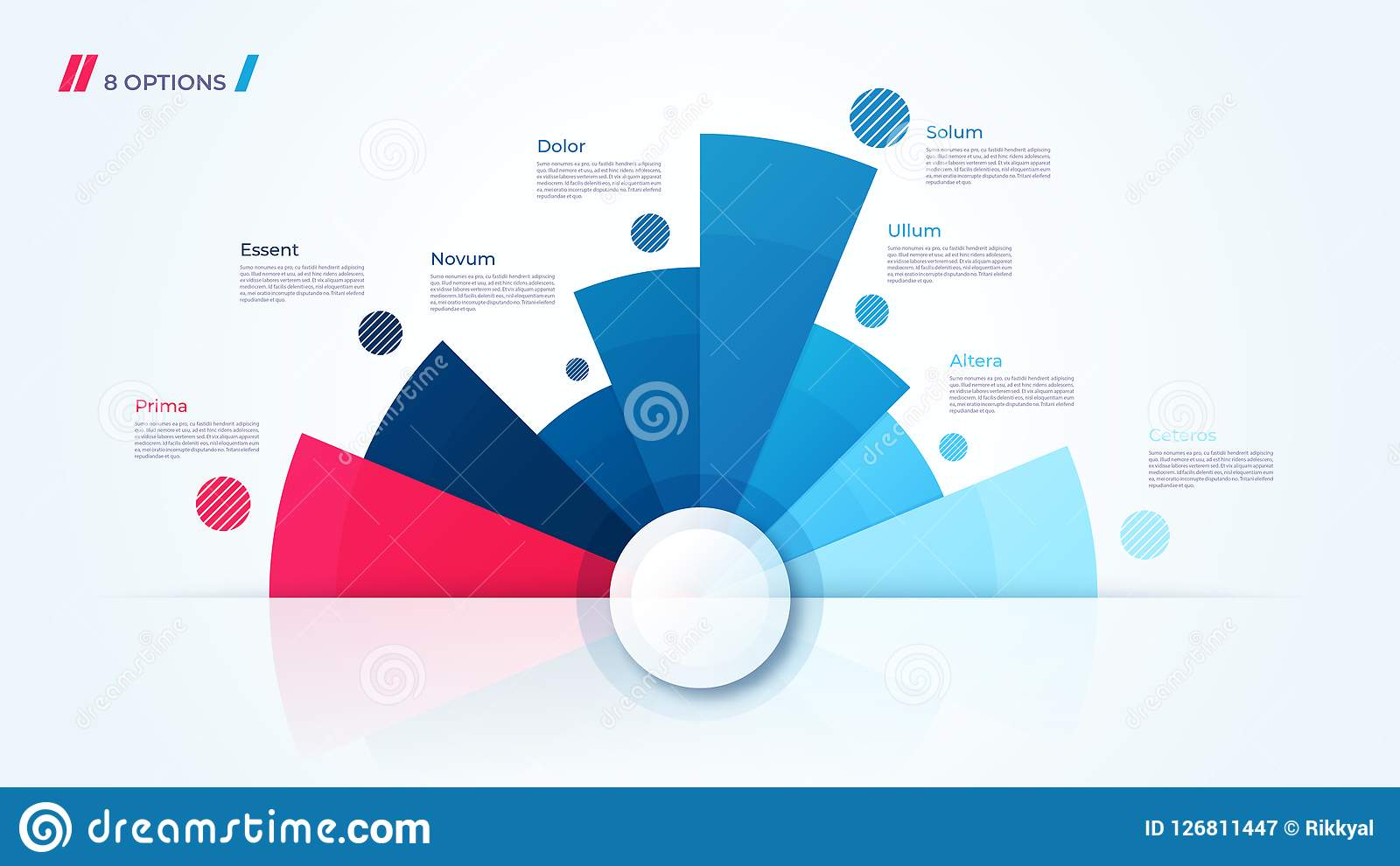 Vector Circle Chart Design Template For Creating