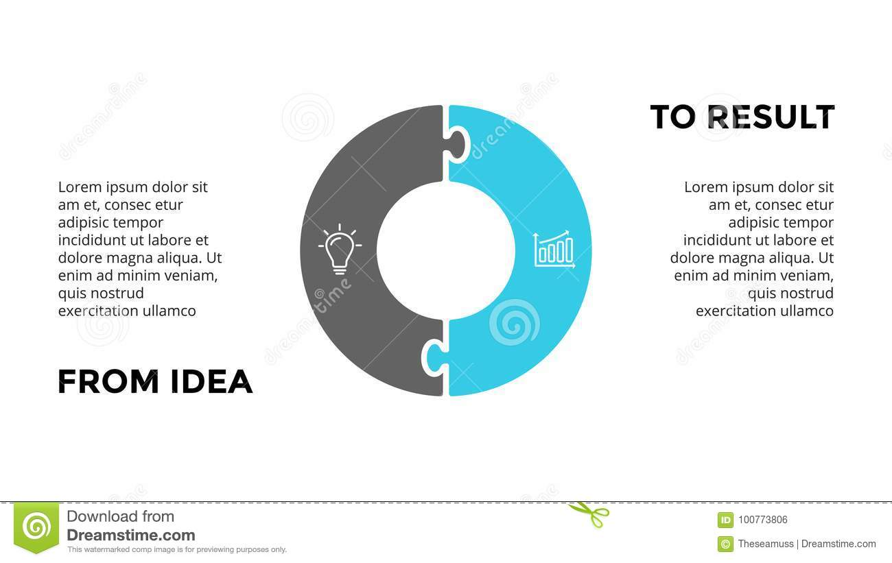 hight resolution of circle arrows diagram for graph infographic presentation with steps parts options