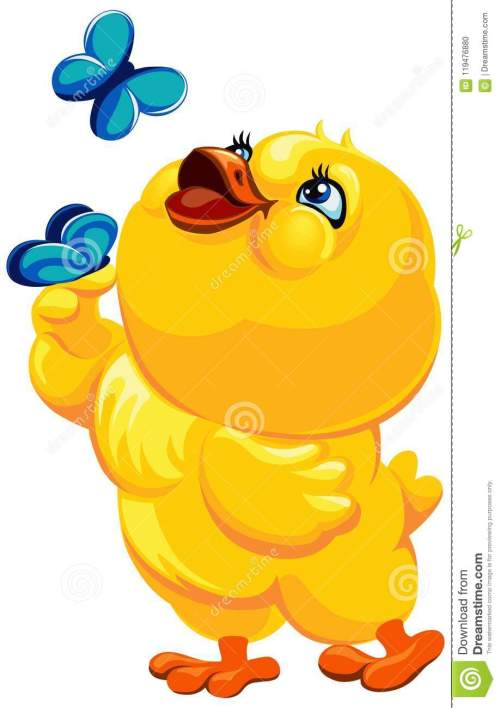small resolution of easter illustration of a cheerful yellow bird catching butterflies vector clipart chicken with butterflies vector easter illustration