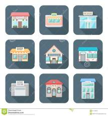 Buildings Icons Set Stock #88934196