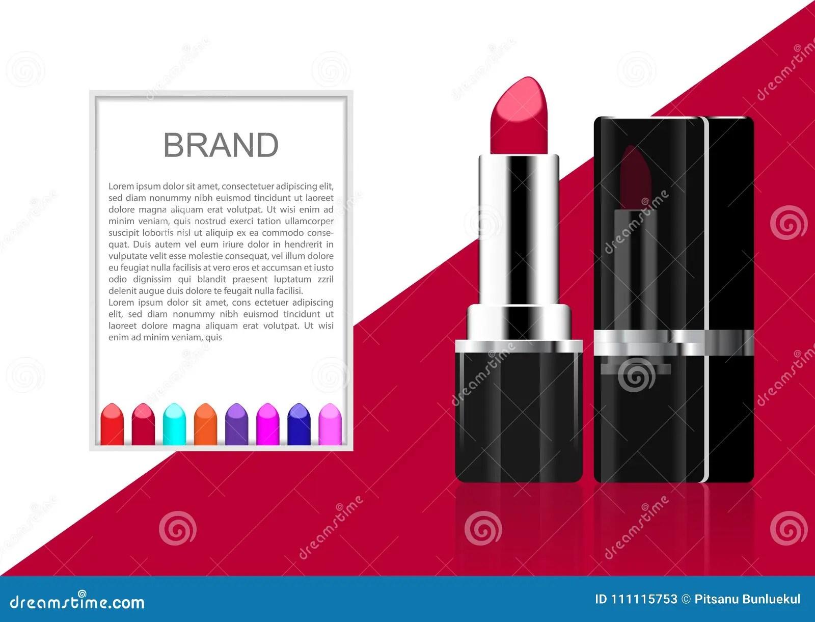 vector cosmetic ads lipstick