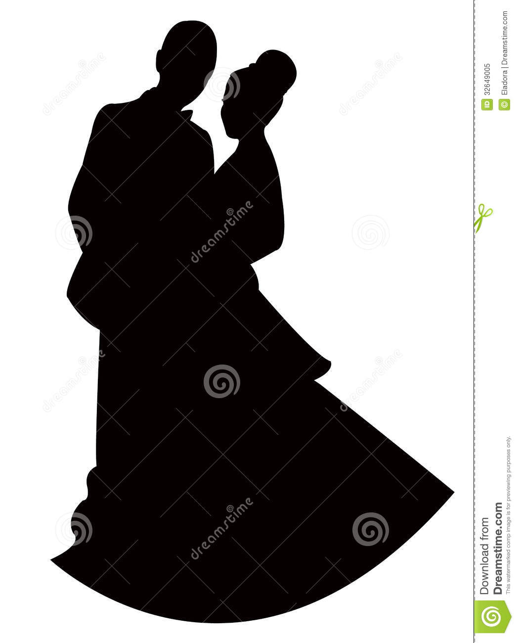 Vector Of A Couple Royalty Free Stock Photo