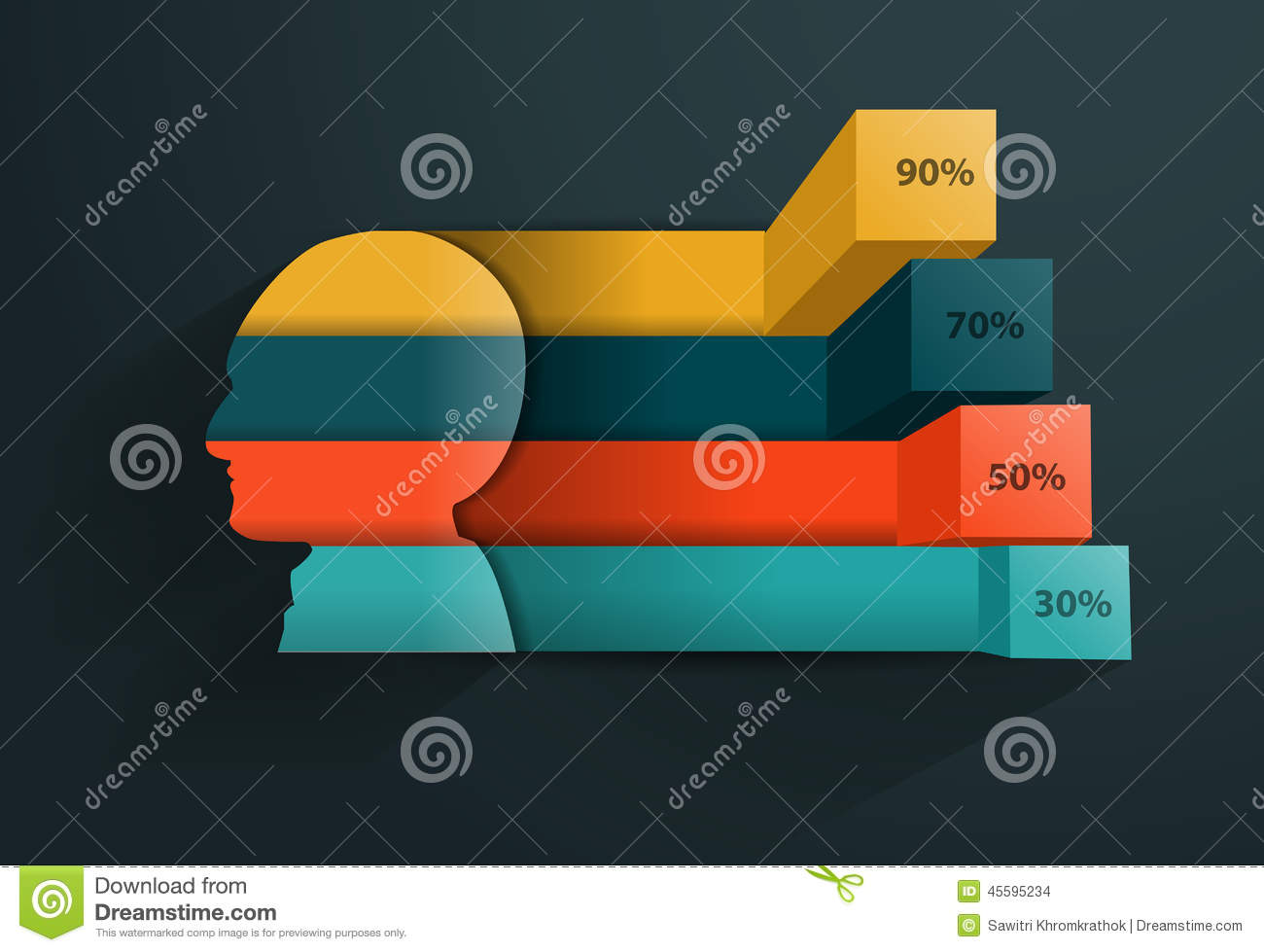 human brain diagram label plate tectonics subduction vector creative head silhouette banner stock - image: 45595234