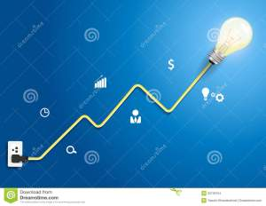 Vector Creative Light Bulb Abstract Charts And Gra Stock