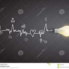 Electrical Wire Diagram Lamp Socket Wiring Vector Creative Light Bulb Modern Design Template Stock - Image: 32729149