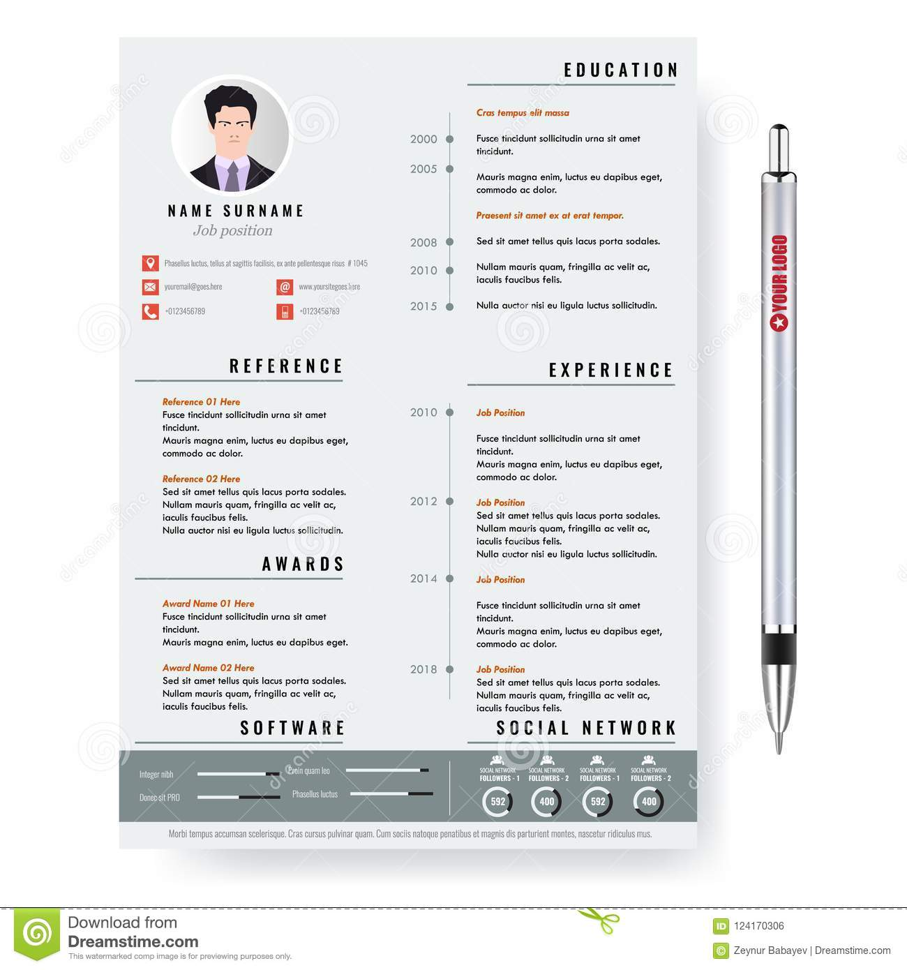 cv two pages template