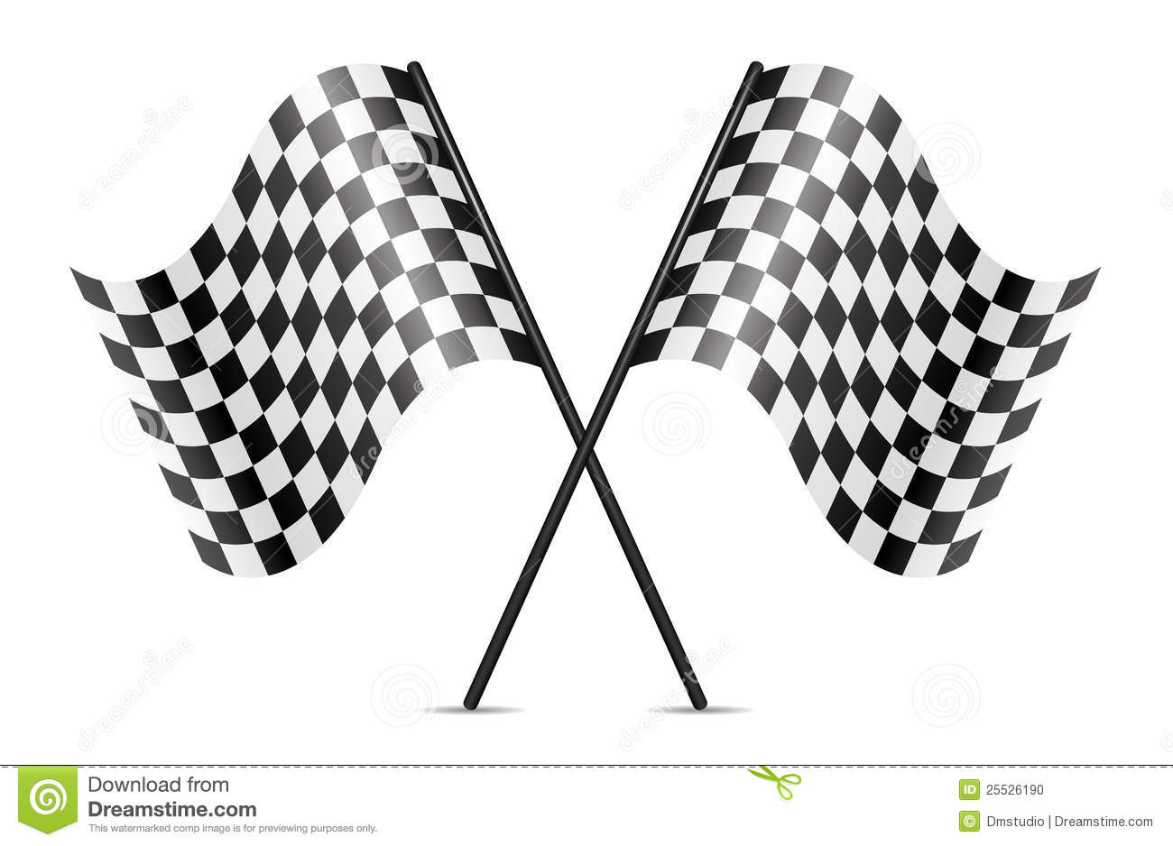 Vector Crossed Racing Flags Stock Vector