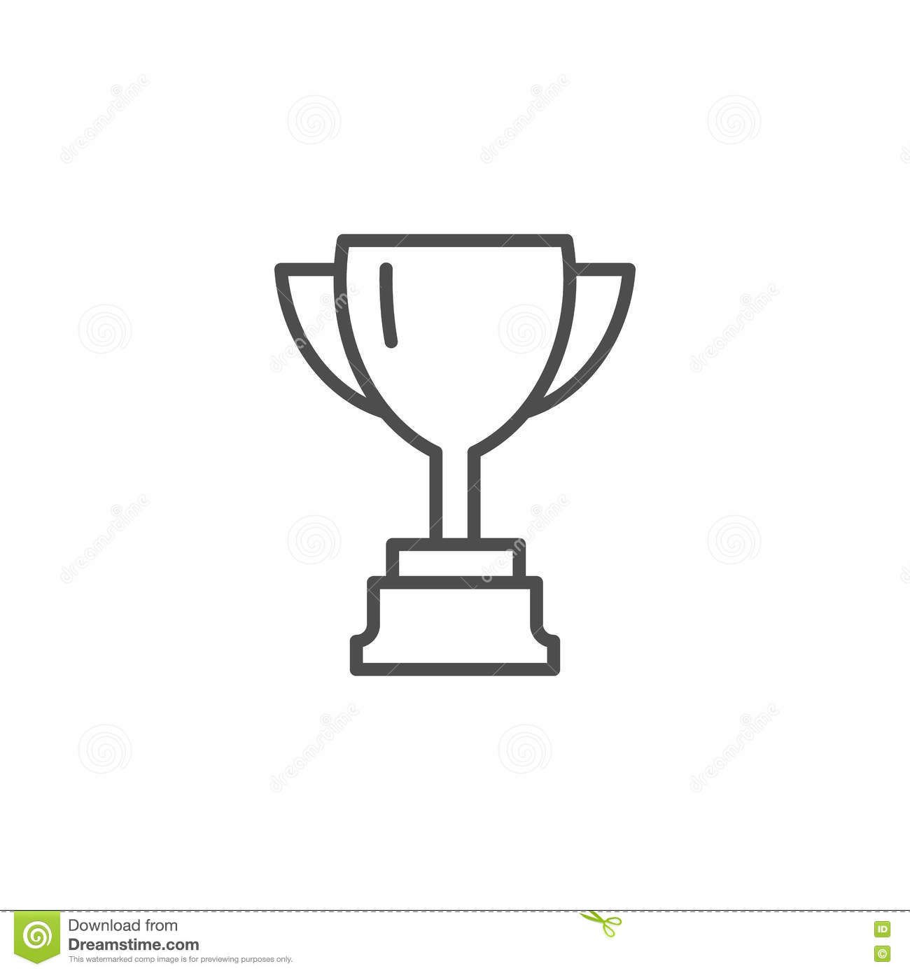 Vector Cup Thin Line Winner Cup Trophy Cup Icon Black