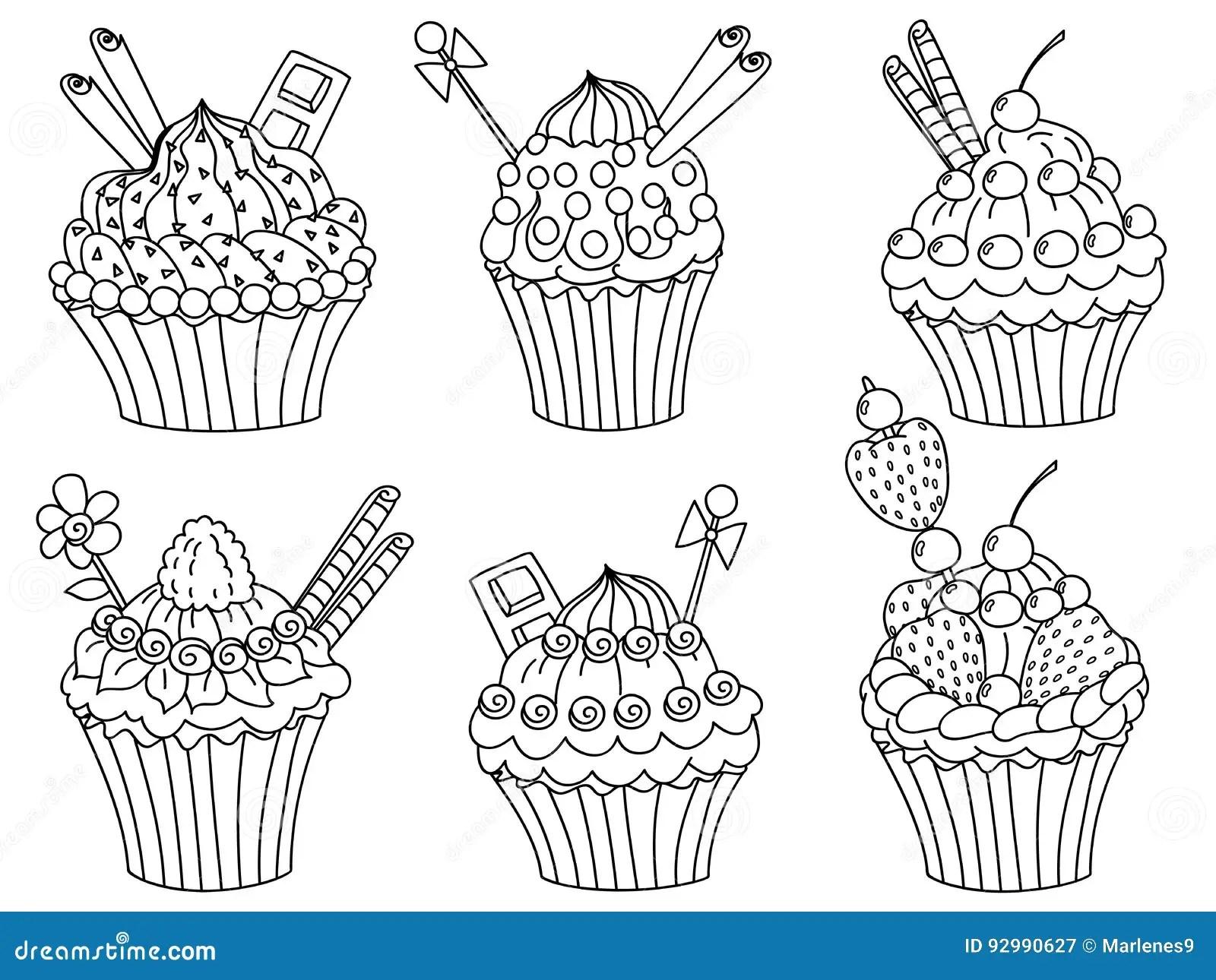 Vector Cupcakes Set Cupcake Clipart Stock Vector